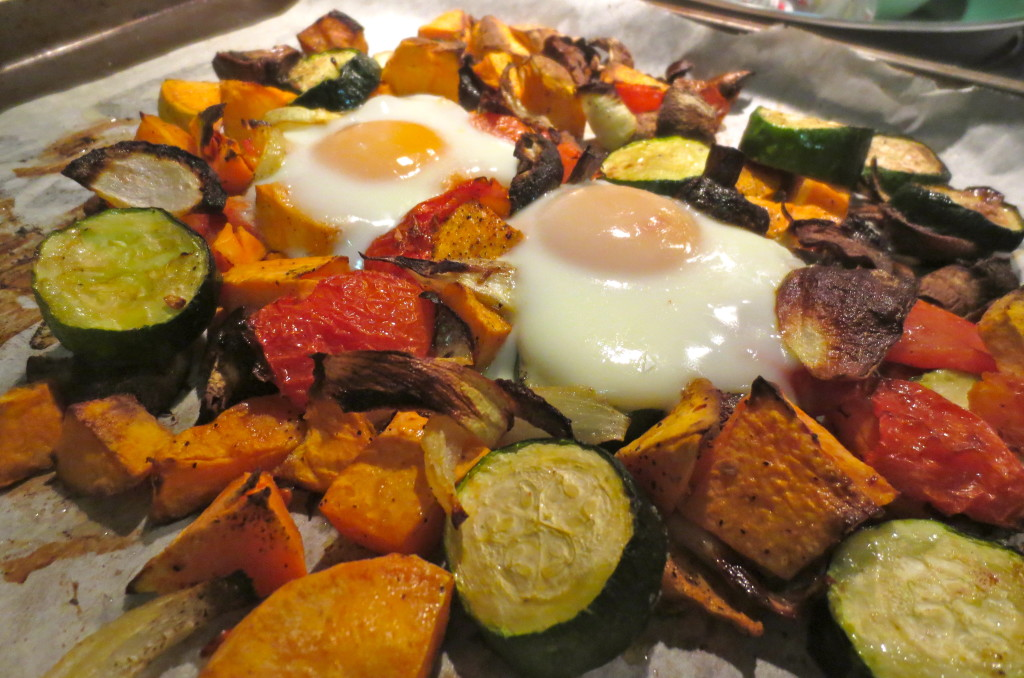cooked eggs  veg