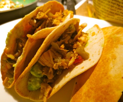 Chicken taco meat quick and easy, even from frozen, this taco meat can be used for tacos, taco salads, chicken burritos, and much more. This is a go-to meal starter for me, when I've forgotten to plan for dinner, I will serve this as one of those meals above.